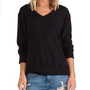 Wildfox black baggy beach jumper / sweater